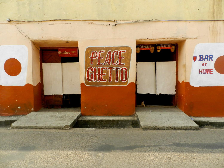 I think I'd like to have a drink inside!  Cape Coast, Ghana