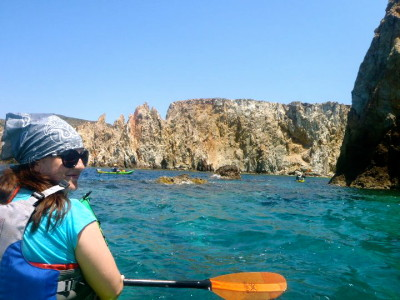 Kayaking around Milos, Greece 2011